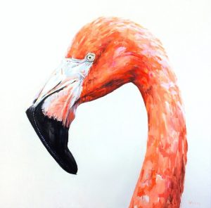 Rebecca Weller Gallery Veronique Flamingo 36x36